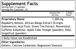Paleotrim Ingredients